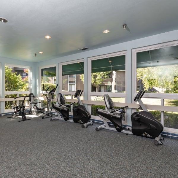 Fitness center at The Atrium at Carmichael in Carmichael, California