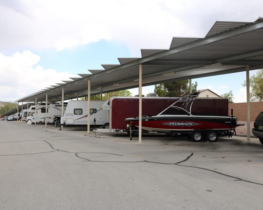 RV parking at Golden State Storage - Horizon Ridge in Henderson, Nevada