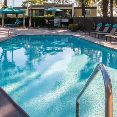 Swimming pool area at Sofi Poway in Poway, California