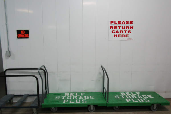 Free use of carts at Self Storage Plus in Lanham, MD