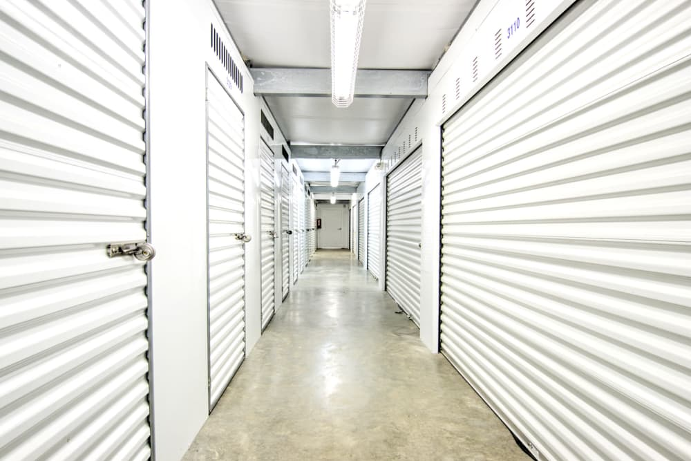 Indoor storage units at Prime Storage in Baltimore, Maryland