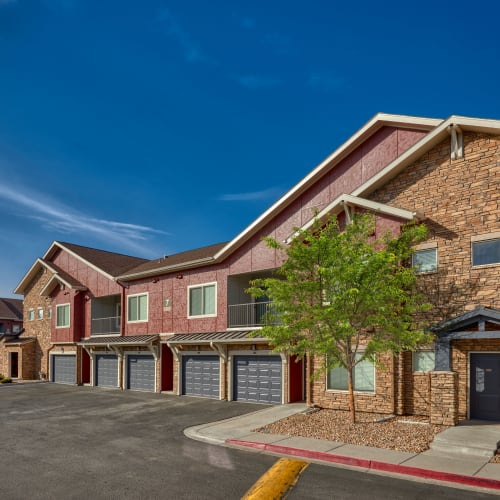 Apartments with garages at M2 Apartments in Denver, Colorado