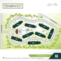 Site map of Ten68 West in Dallas, Georgia