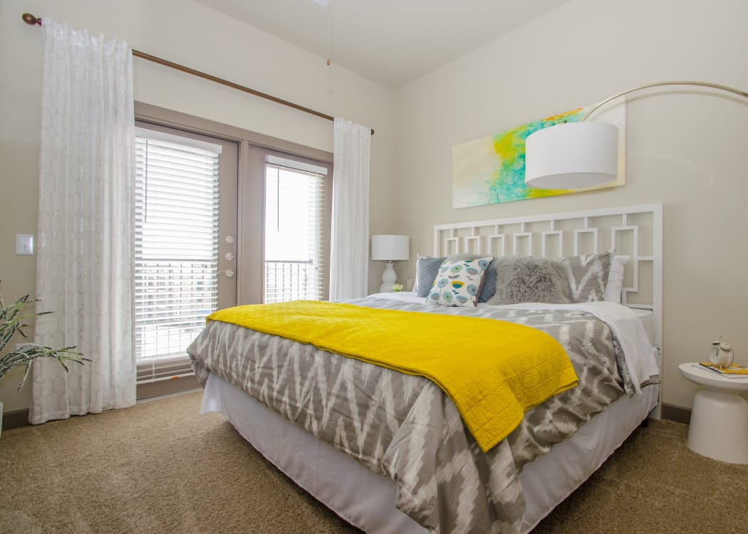 Spacious bedroom at GreenVue Apartments