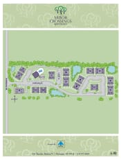 Site map of Arbor Crossings Apartments in Muskegon, Michigan