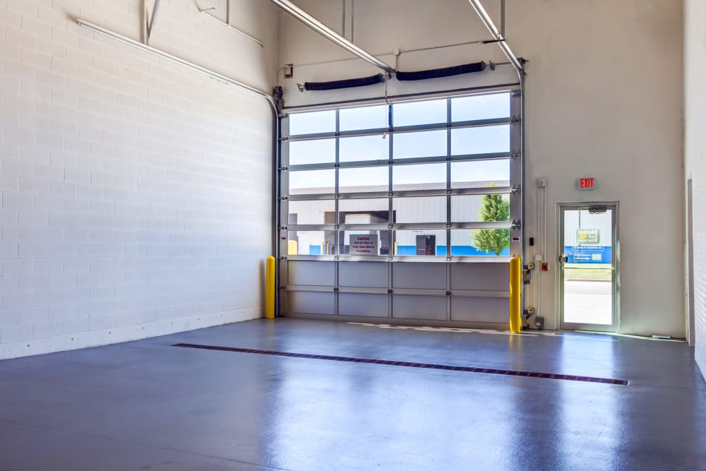 Loading dock interior view at Metro Self Storage in Northbrook, Illinois