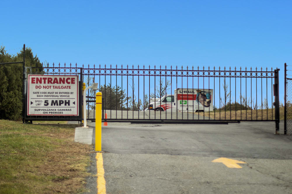 Gated entrance at Capital Self Storage in Liberty, New York