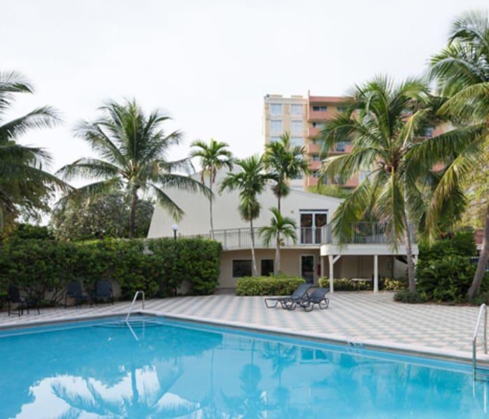 Swimming pool at Aliro Apartments in North Miami, FL