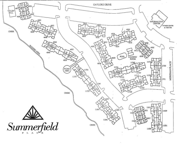 Site map for Summerfield Place Apartments in Oklahoma City, Oklahoma