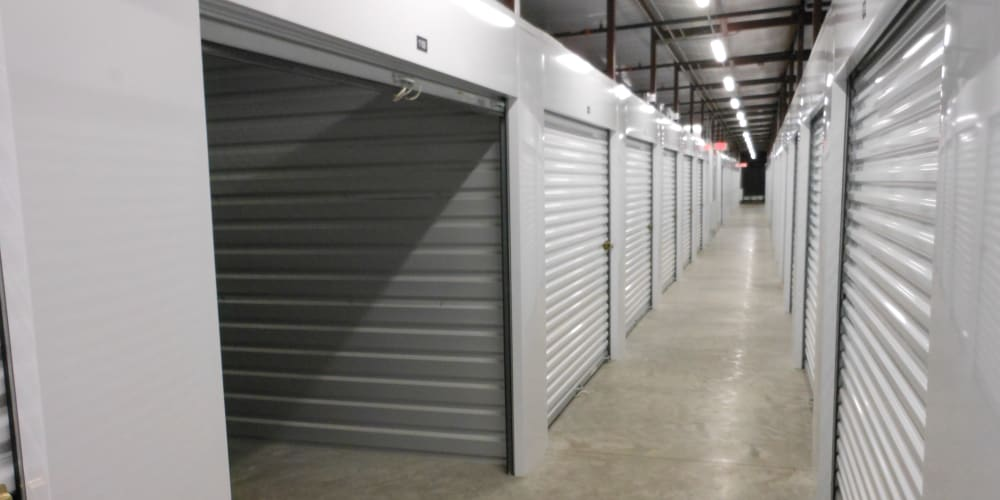 Indoor climate controlled units at StorQuest Self Storage in Venice, Florida
