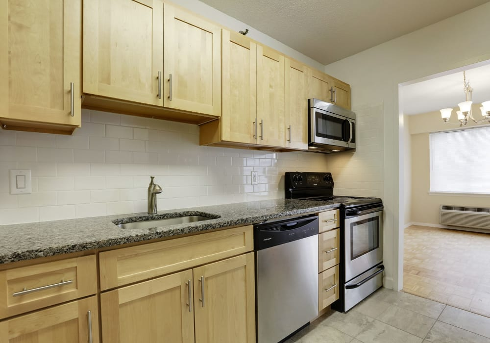 Well equipped kitchen at 140 Prospect in Hackensack, New Jersey
