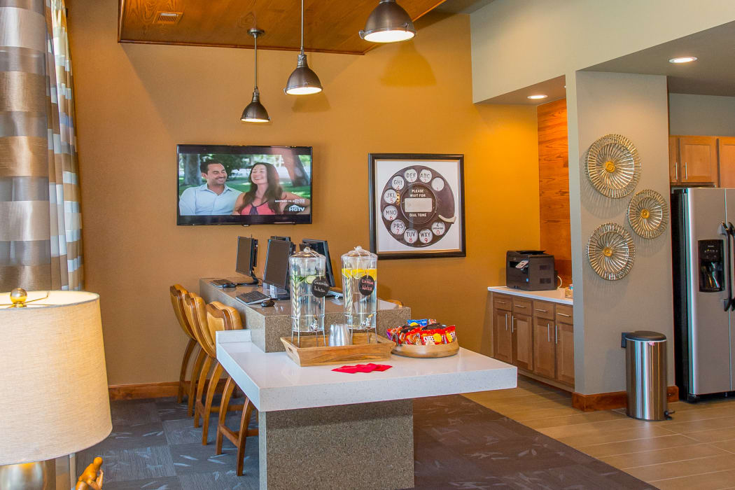 Luxury clubhouse kitchen at The Reserve at Elm in Jenks, Oklahoma