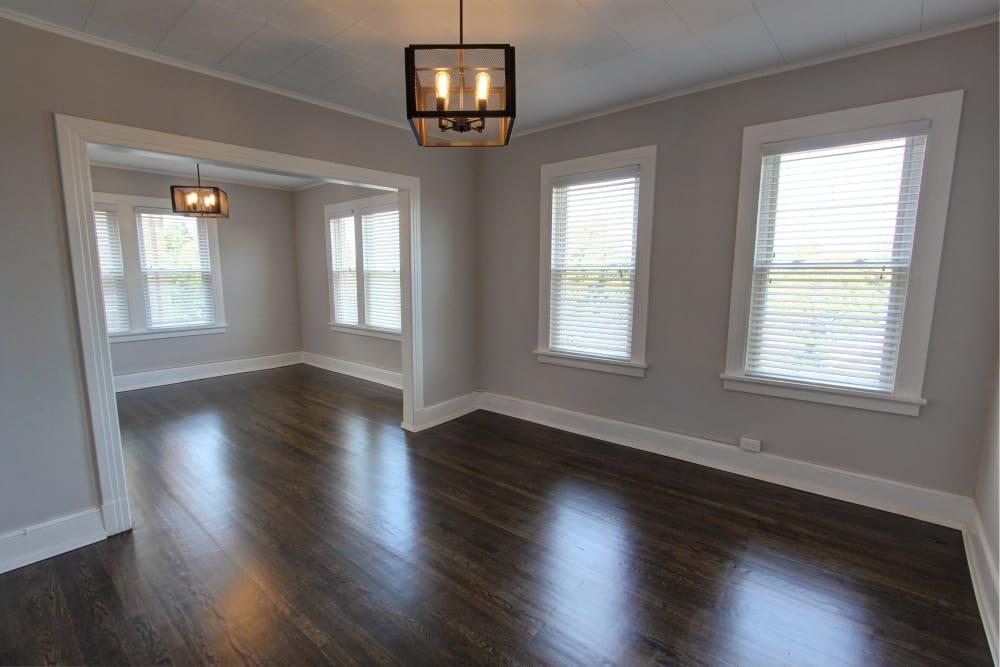 Elegant dining room at West Hartford apartment
