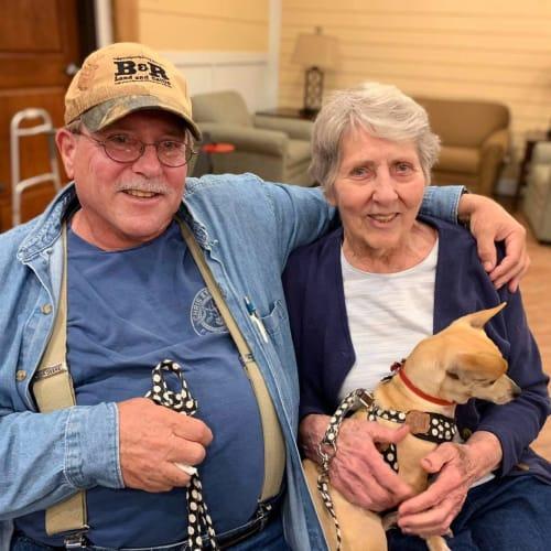 Happy residents at Oxford Glen Memory Care at Owasso in Owasso, Oklahoma