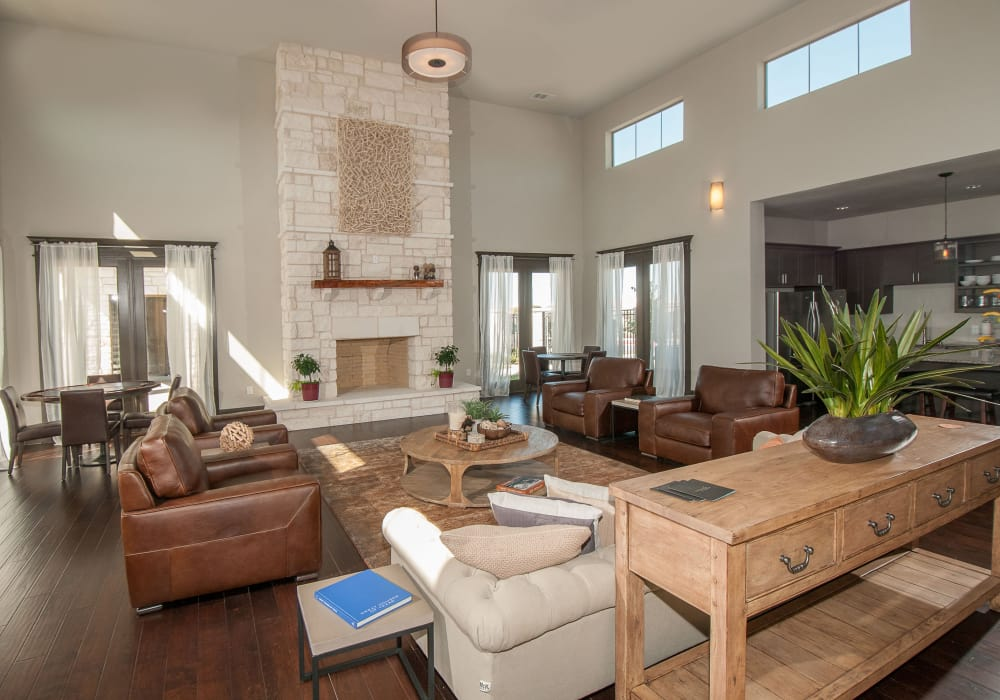 Interior of the luxury Carrington Oaks's clubhouse in Buda, Texas