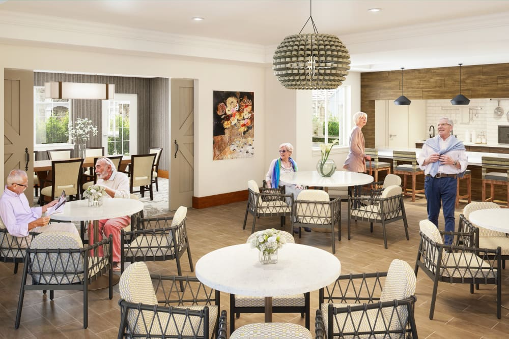 Resident bistro at Clearwater at Sonoma Hills in Rohnert Park, California.