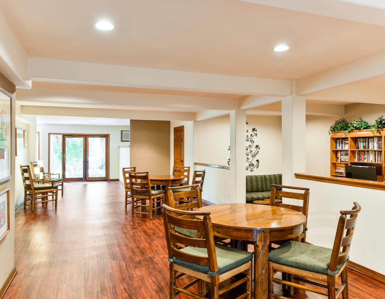 Spacious and welcoming resident clubhouse at Village Pointe in Northridge, California