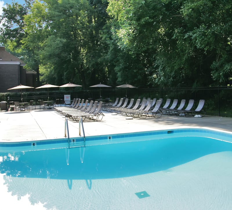 Resort style swimming pool at Westchester West in Silver Spring, Maryland