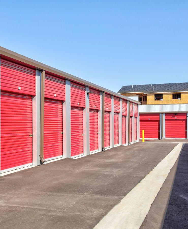 Exterior storage units at StorQuest Self Storage in Denver, Colorado