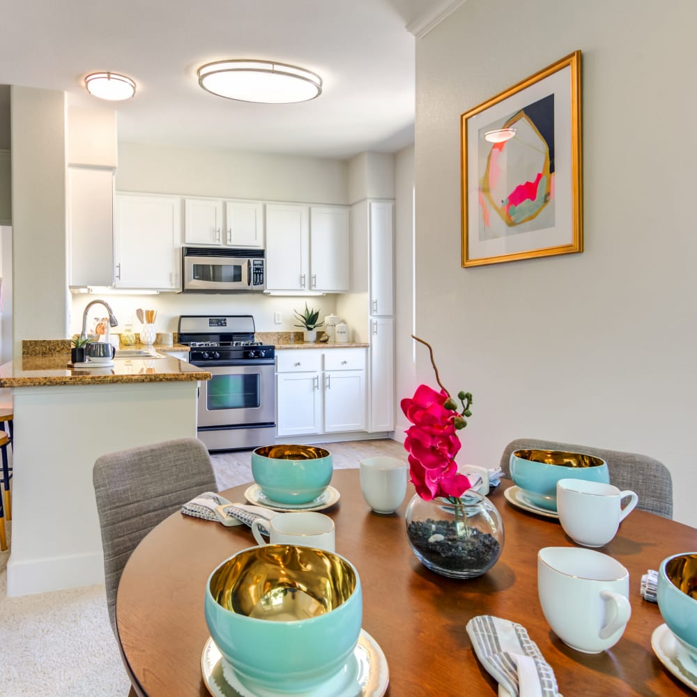 Open concept floor plan in a model home at Sofi Shadowridge in Vista, California