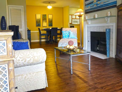 Enclave at Wolfchase offers a fireplace in Cordova, Tennessee