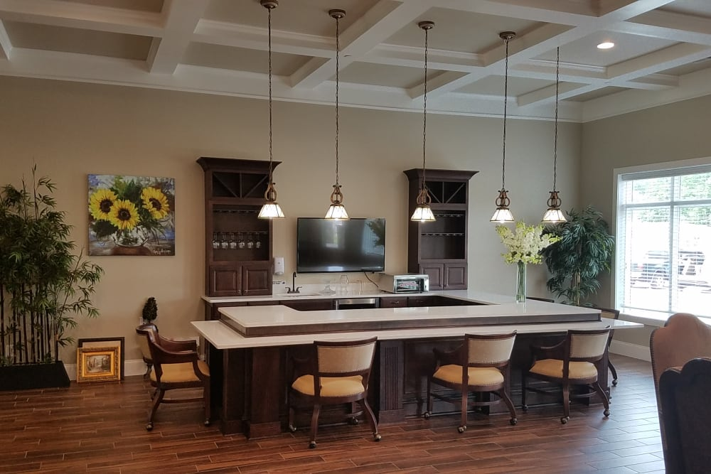 Dining area at Blue Ridge Assisted Living