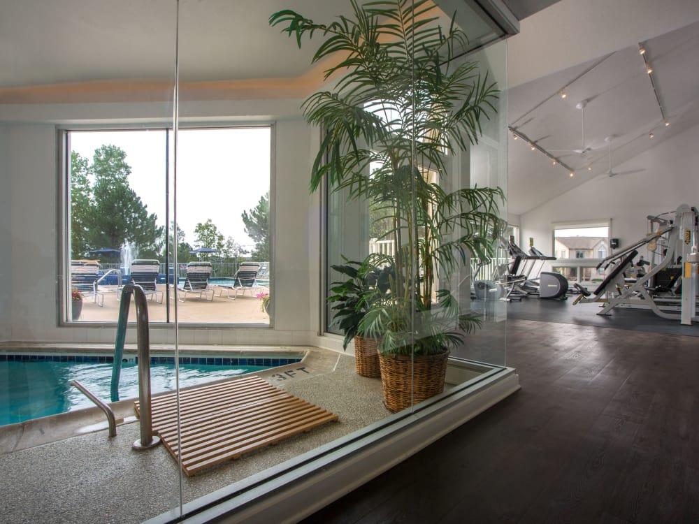 Swimming pool at Briar Cove Terrace Apartments in Ann Arbor, Michigan