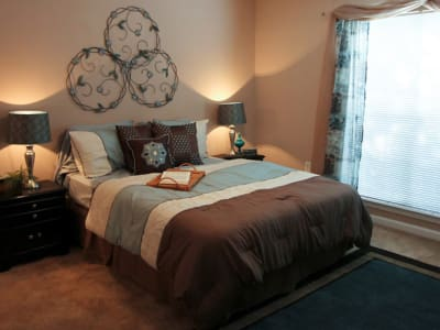 Well-lit bedroom at North Park at Eagle's Landing in Stockbridge
