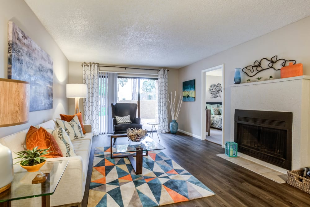 Beautiful apartments with a living room at Renaissance Apartment Homes