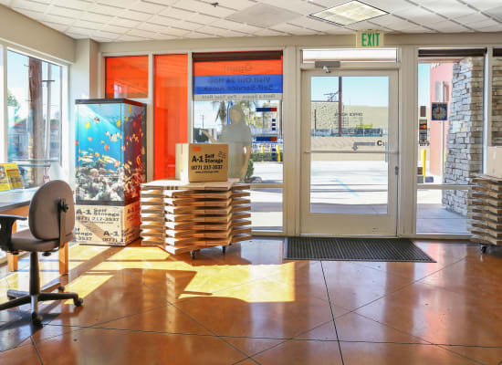 Moving truck available at A-1 Self Storage in North Hollywood, California