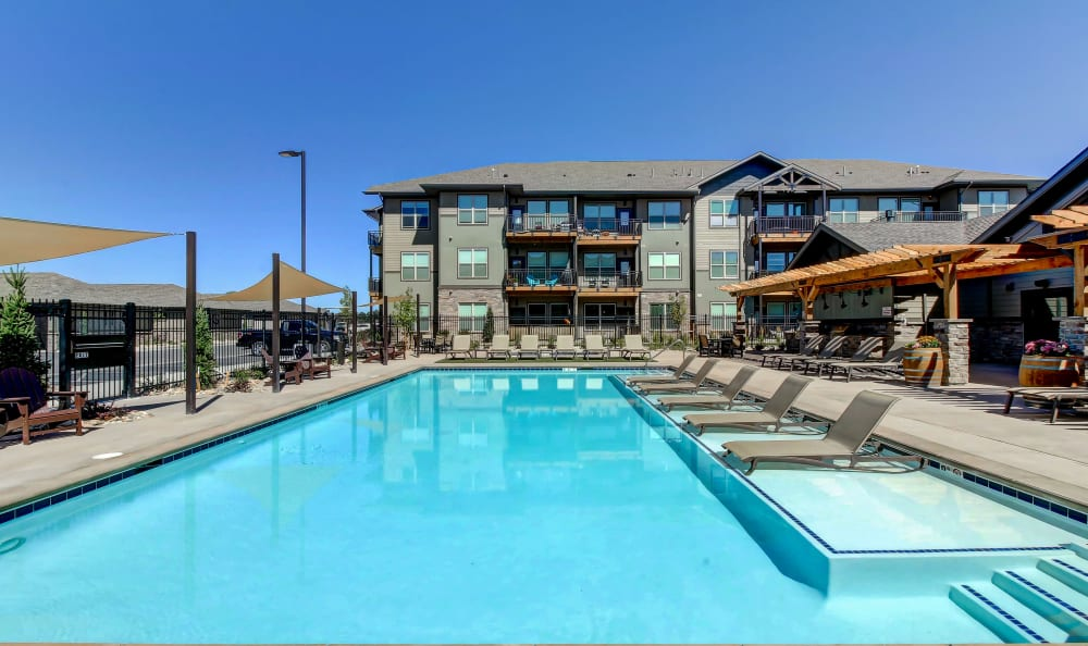 Swimming Pool at Timnath Trail at Riverbend Apartment Homes in Timnath, Colorado