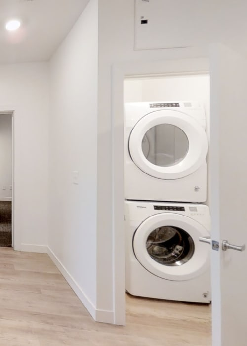 Washer and dryer in your home at The View on Pavey Square in Columbus, Ohio