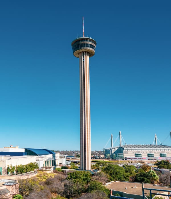 Tower of Americas near The '68 in San Antonio, Texas.