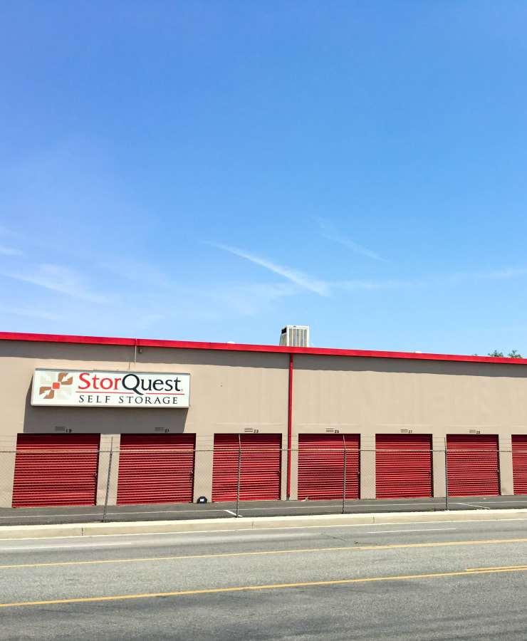 Facade and outdoor units at StorQuest Self Storage in Canoga Park, California