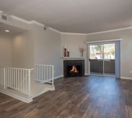Spacious living room with balcony access at Niguel Summit Condominium Rentals in Laguna Niguel, California