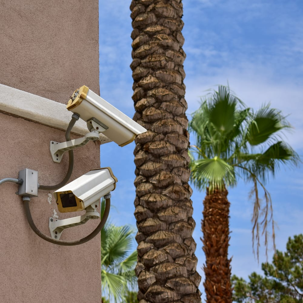 Video surveillance cameras at STOR-N-LOCK Self Storage in Palm Desert, California