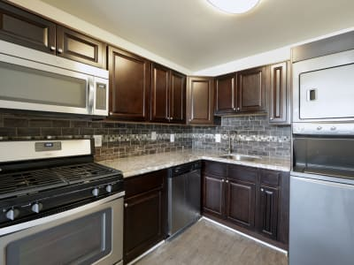 Luxury kitchen at Seneca Bay Apartment Homes in Middle River, Maryland