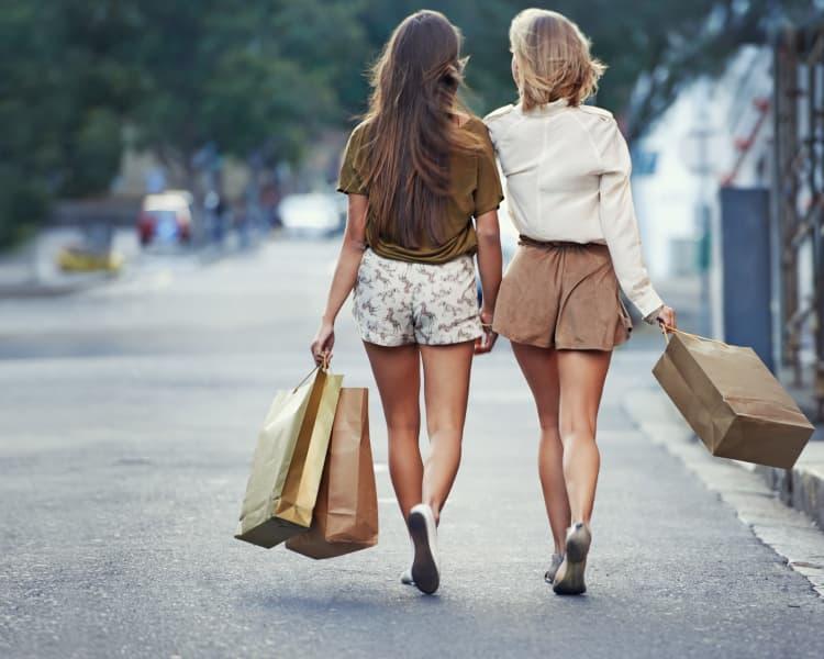 Ladies going shopping near AdMo Heights in Washington, DC