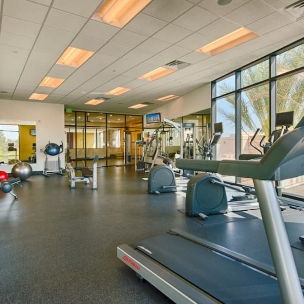 Fitness center at Cactus Forty-2 in Phoenix, Arizona