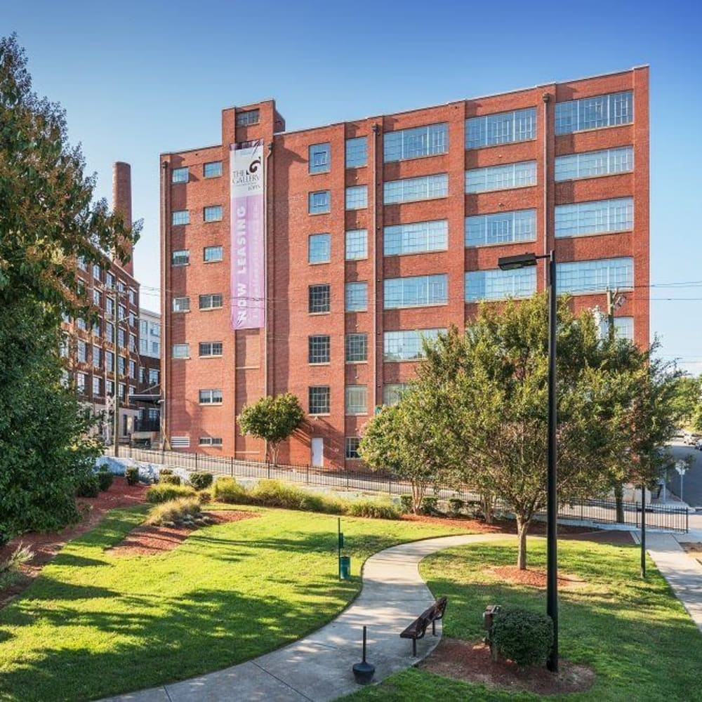 View the site for Gallery Lofts apartments in Winston-Salem, North Carolina