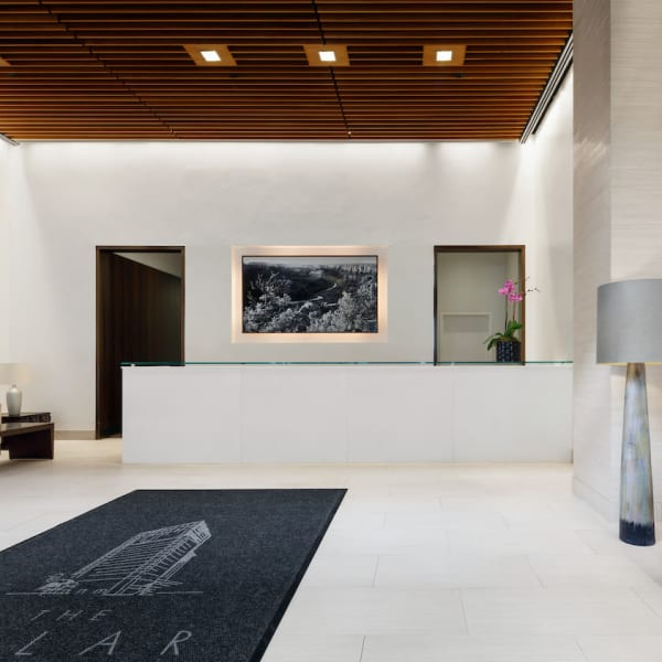 Large lobby area with a very modern look at The Melar in New York, New York