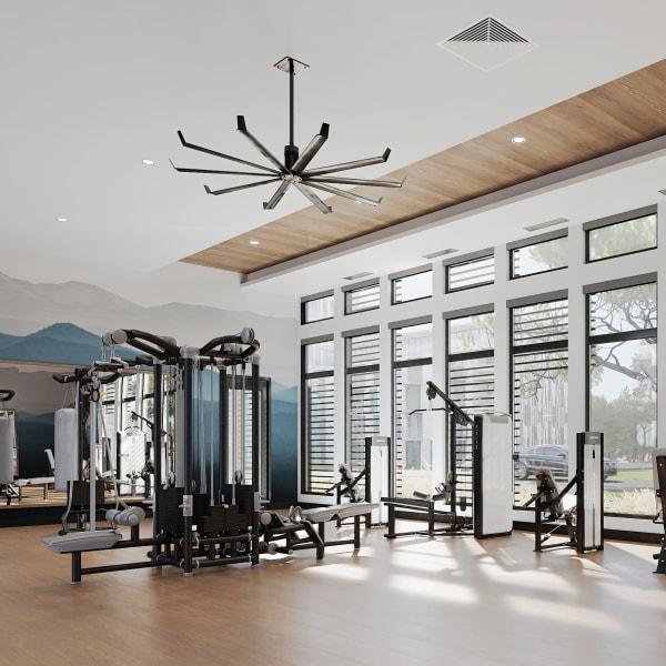 Fitness Center at Solana Stapleton Apartments in Denver, Colorado