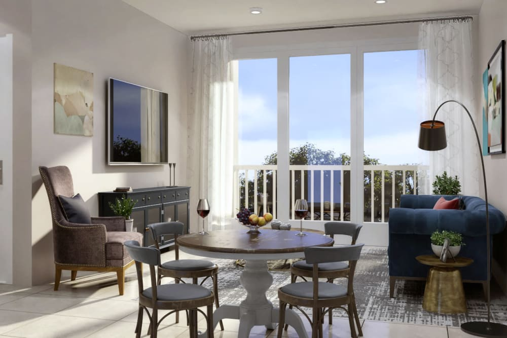 Spacious living rooms with big windows at Jubilation in Fredericksburg, Virginia.