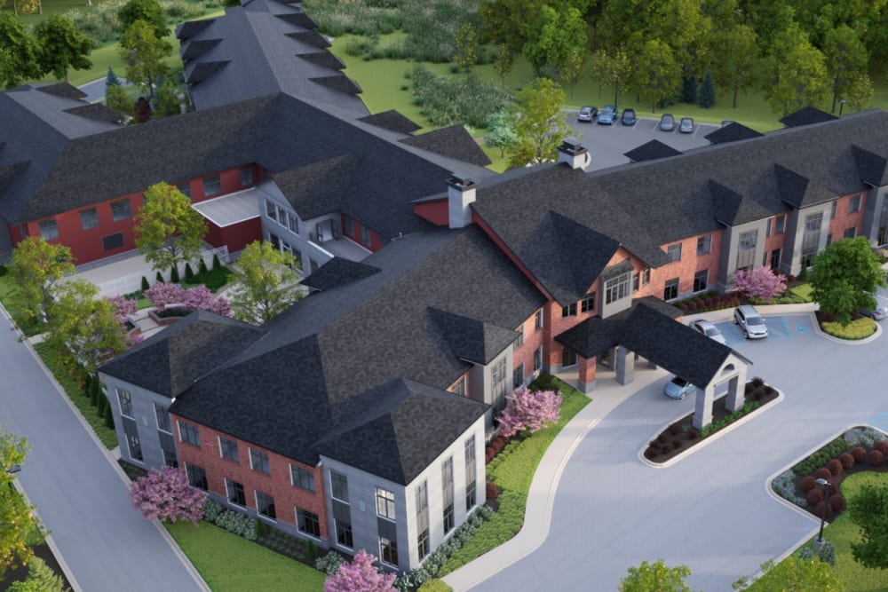 A rendering of an aerial view of Anthology of Midlothian - Opening Early 2021 in North Chesterfield, Virginia