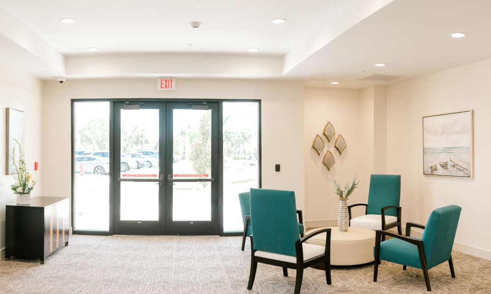 Lounge Area Keystone Place at Four Mile Cove in Cape Coral, Florida