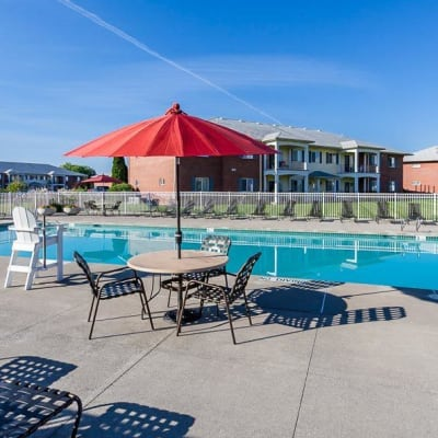 CenterPointe Apartments and Townhomes poolside