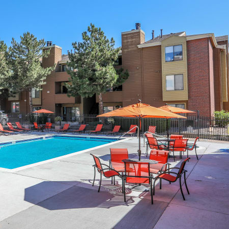 Refreshing swimming pool at Silver Reef Apartments in Lakewood