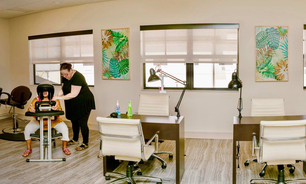Massage area at Keystone Place at Four Mile Cove in Cape Coral, Florida