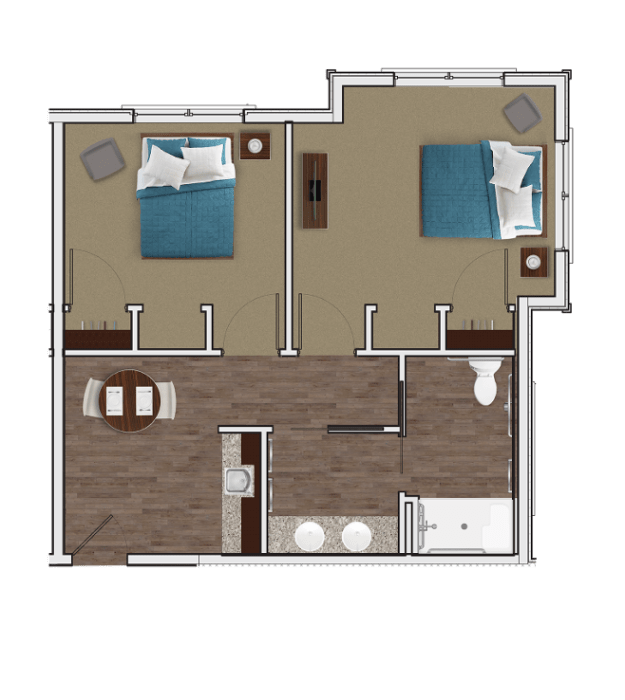 Memory Care Companion Suite at Stonecrest of McCandless