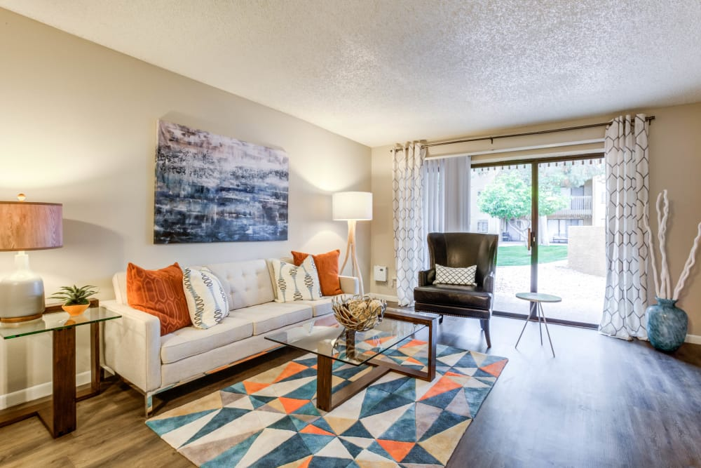 Our beautiful apartments in Phoenix, Arizona showcase a living room